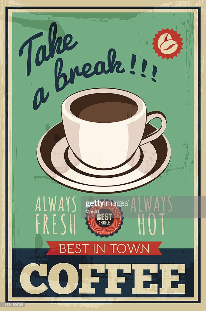 vector coffee poster
