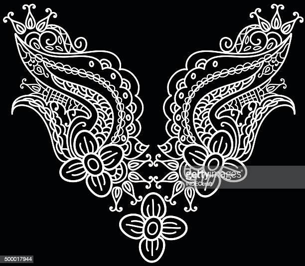vector collar design - neckline stock illustrations