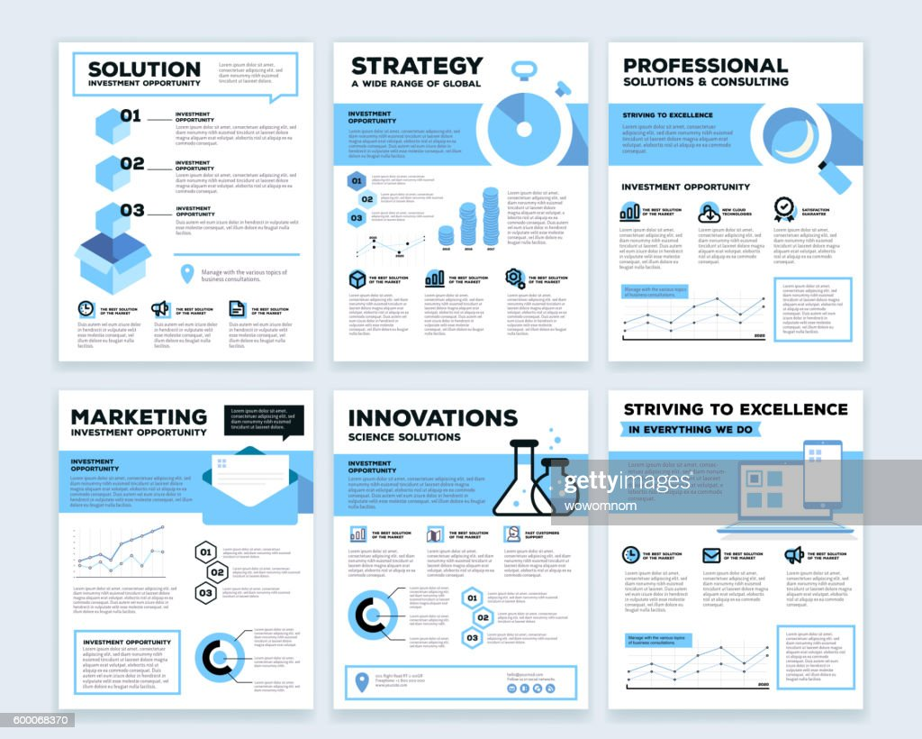 Vector collection of corporate business template infographic with objects