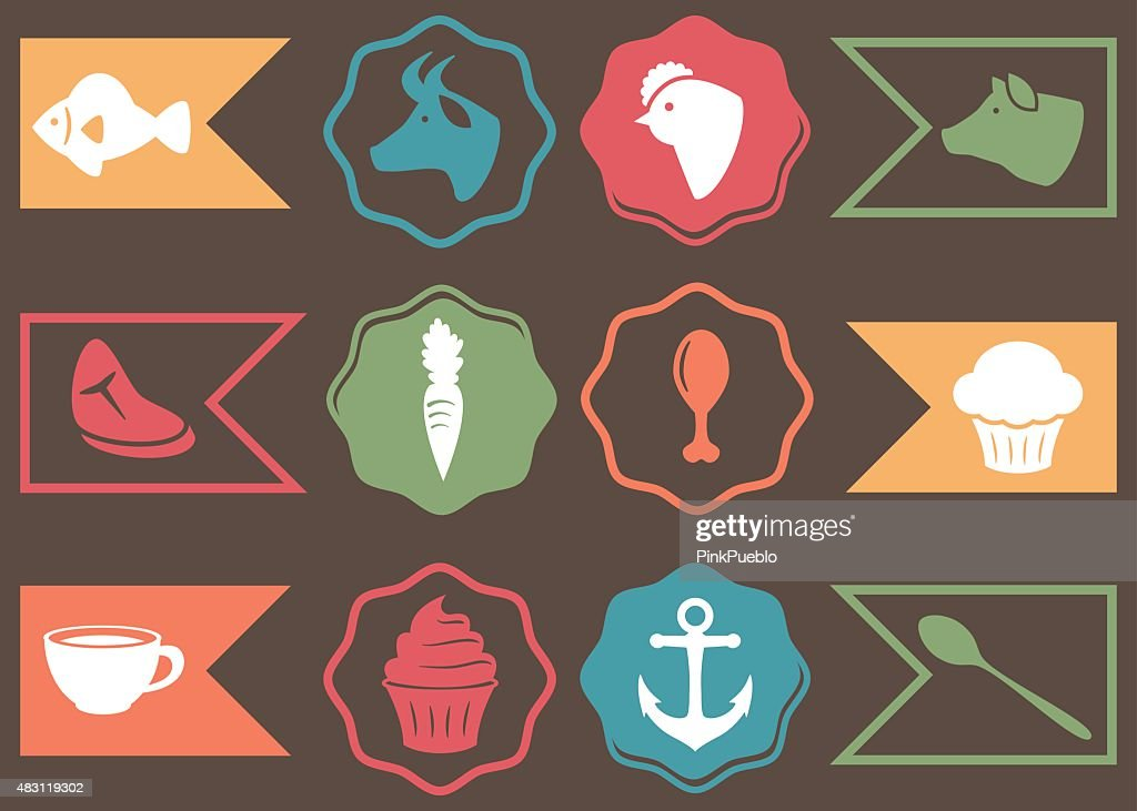 Vector Collection of Culinary, Cooking and Food Related Icons