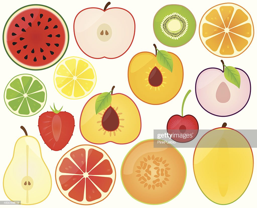 Vector Collection of Fruit Slices