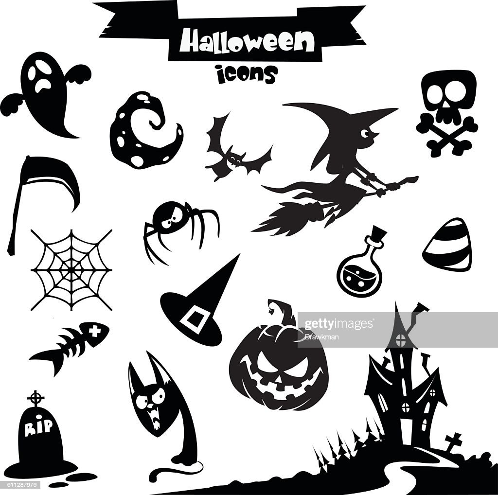 Vector collection of halloween elements