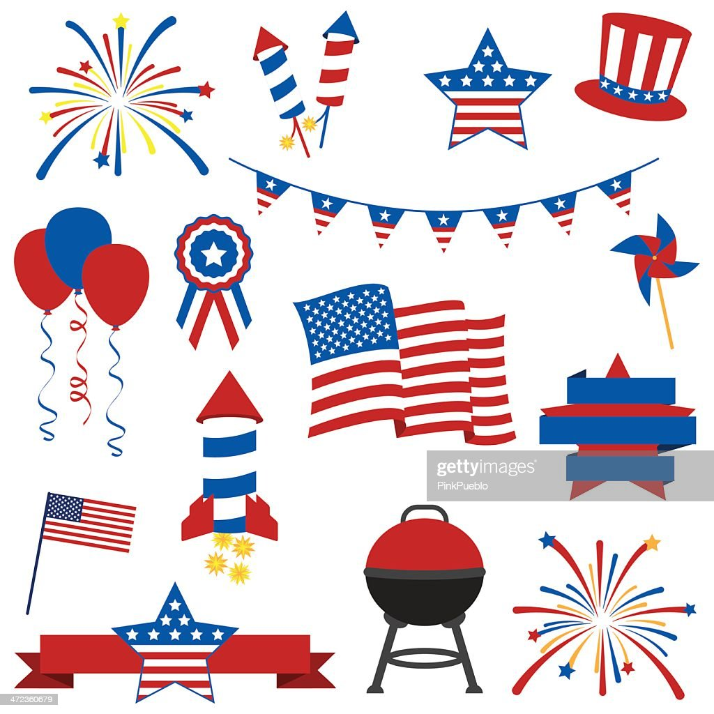 Vector Collection of July 4th Images