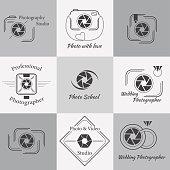 Vector collection of photography logo templates