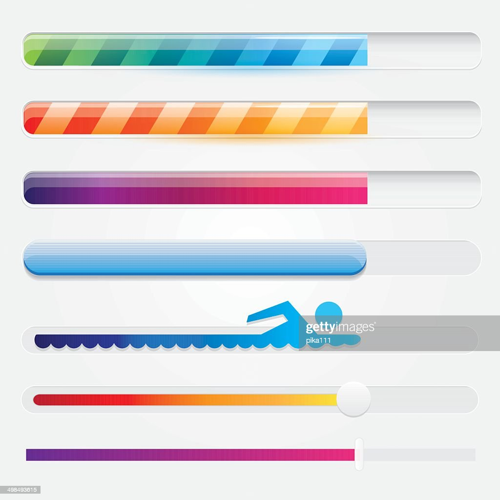 vector collection of progress loading bars
