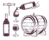 Vector collection of wine icons