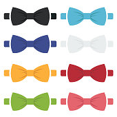 Vector color bow ties icons set