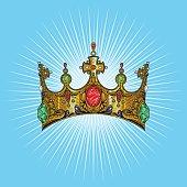 Vector Color Crown Illustration