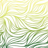 Vector color hand-drawing wave sea background.