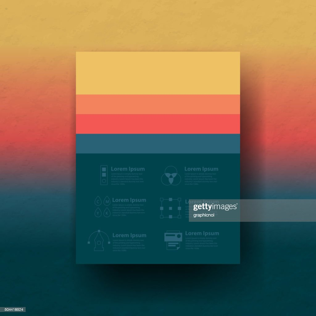 Vector color palette with graphic design icons set