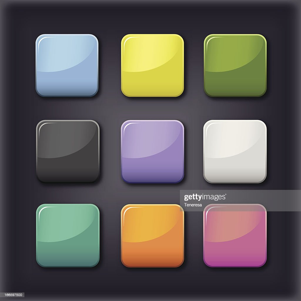 Vector color squares on a black background