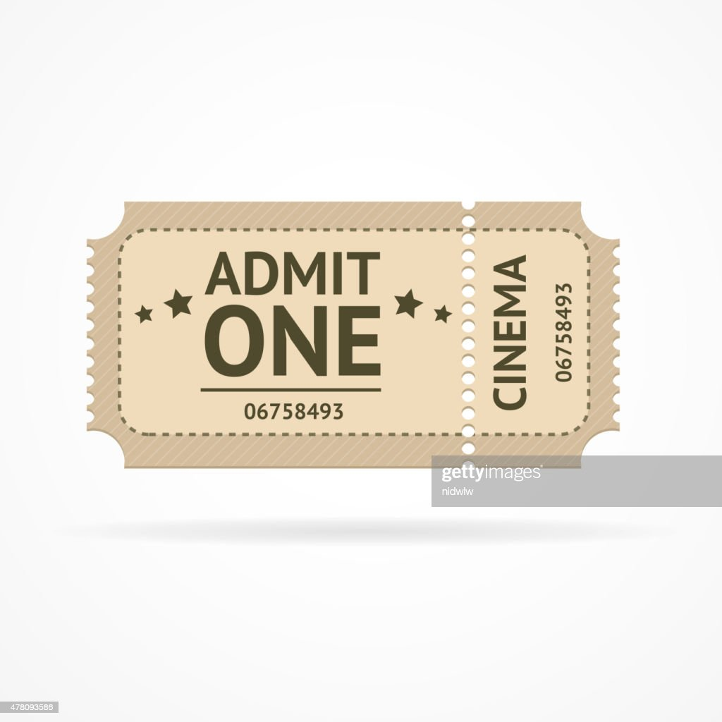 Vector color ticket