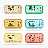 Vector color tickets set