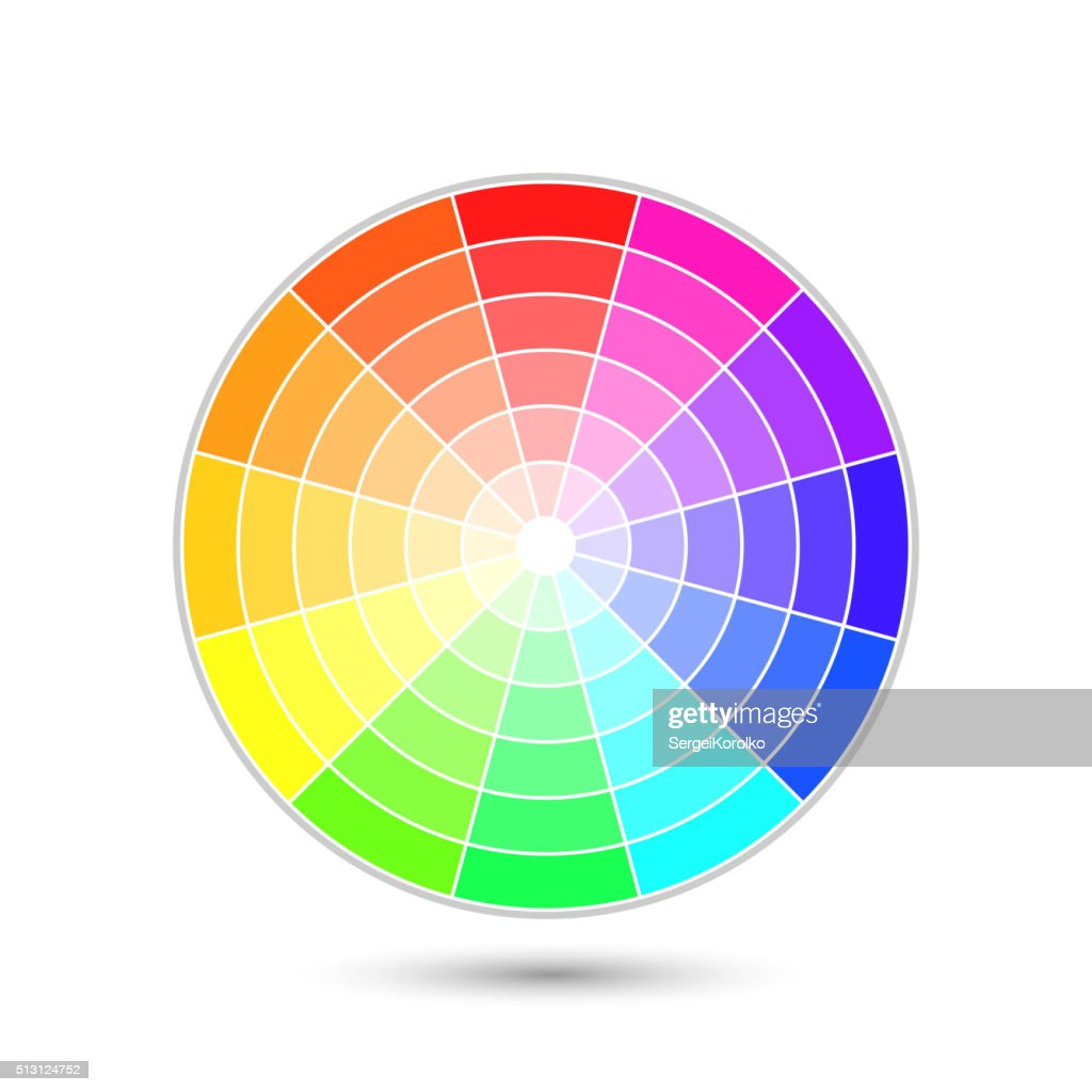 Vector color wheel isolated on white background