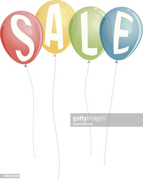 vector colorful balloons wording sale
