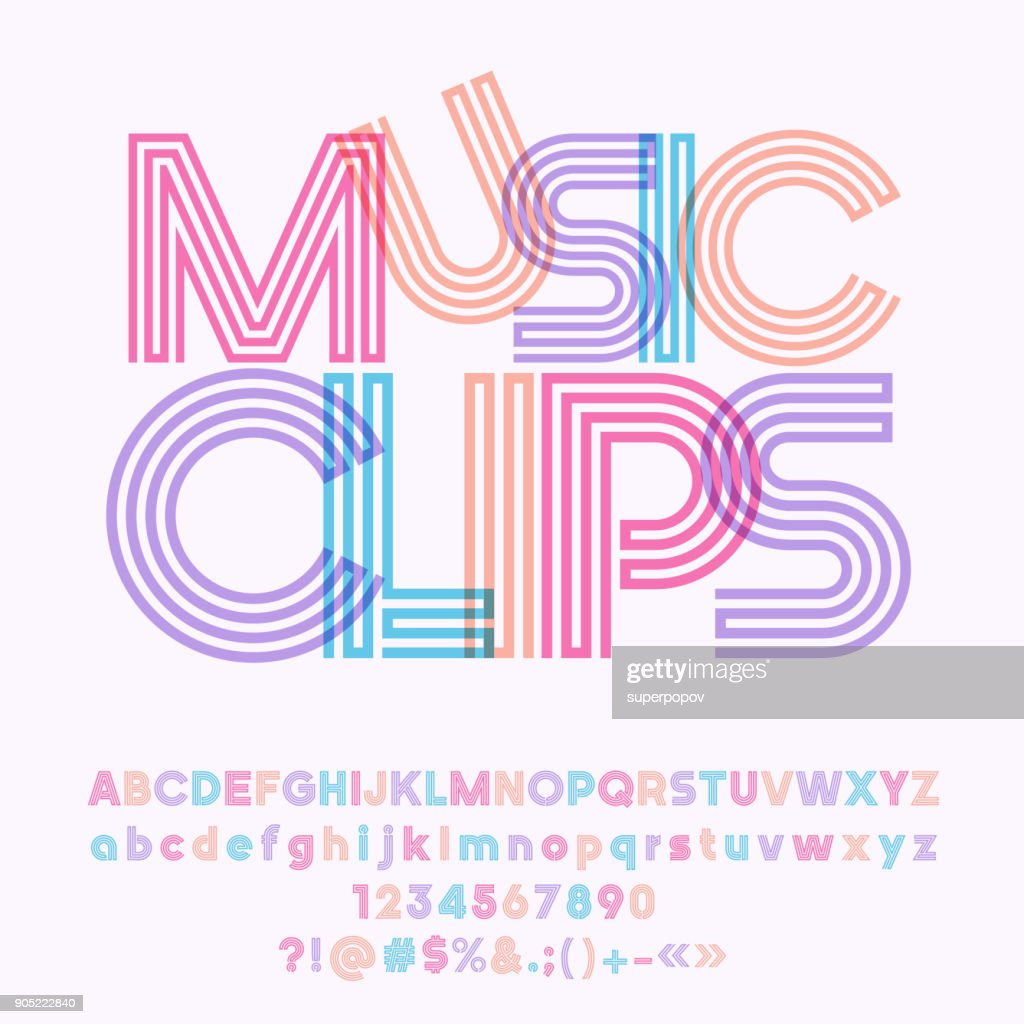Vector colorful geometric poster Music Clips