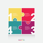 Vector colorful puzzle info graphics for your presentations
