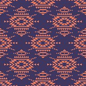 Vector colorful seamless decorative ethnic pattern. American indian motifs. Background with aztec tribal ornament. Romantic boho style.