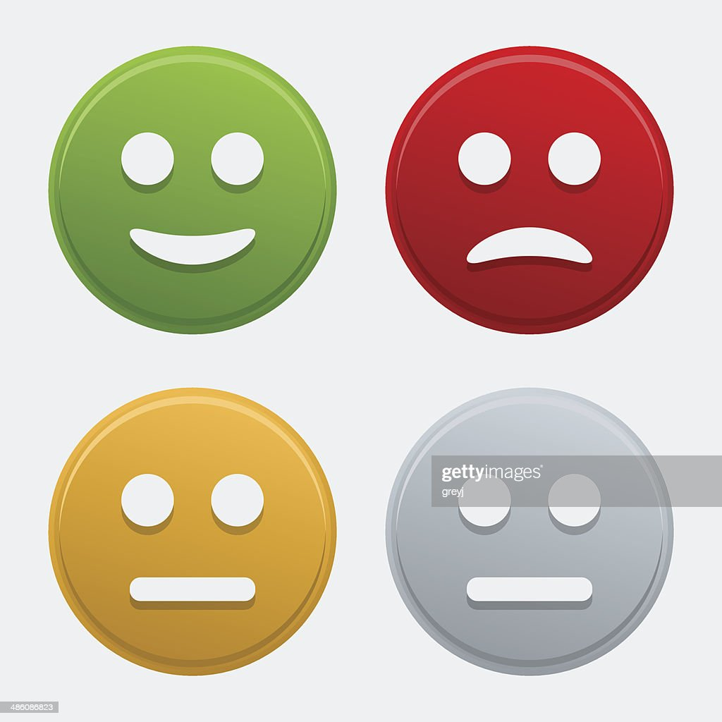Vector colorful smile icons
