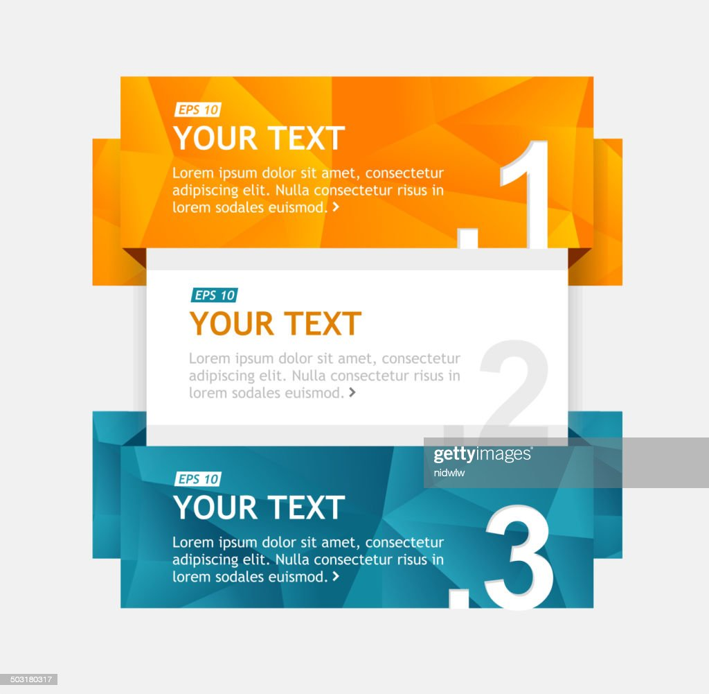 Vector colorful text boxes, infographics options banner