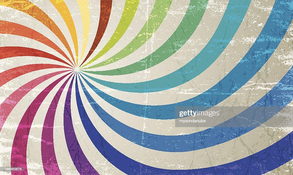 vector colorful vintage sun burst background