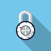 Vector combination padlock icon