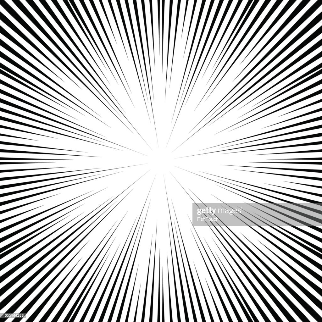Vector comic book speed lines background