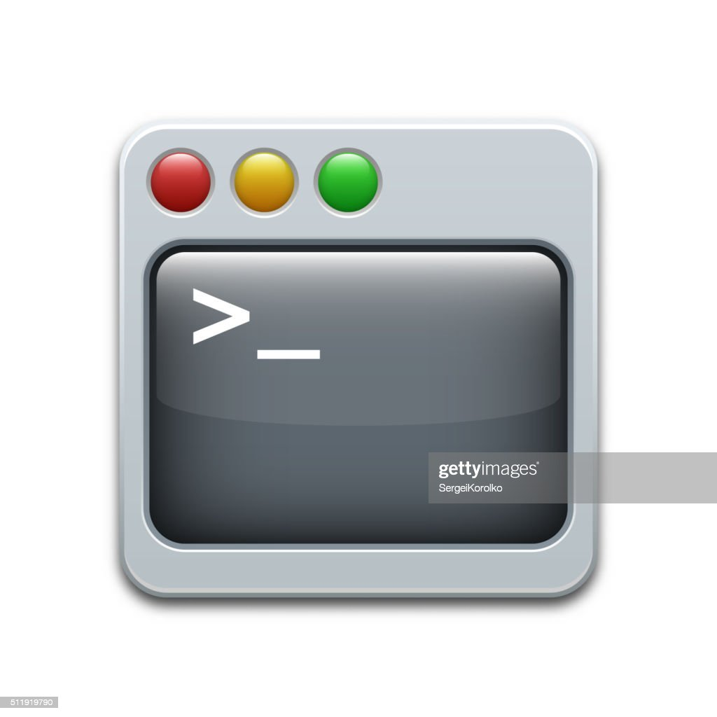 Vector command line icon
