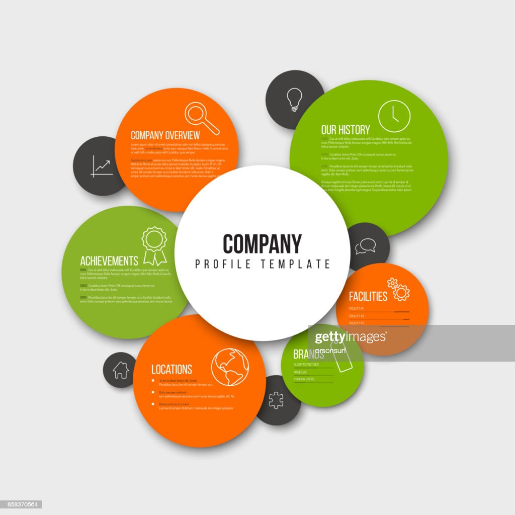 Vector Company infographic overview design template