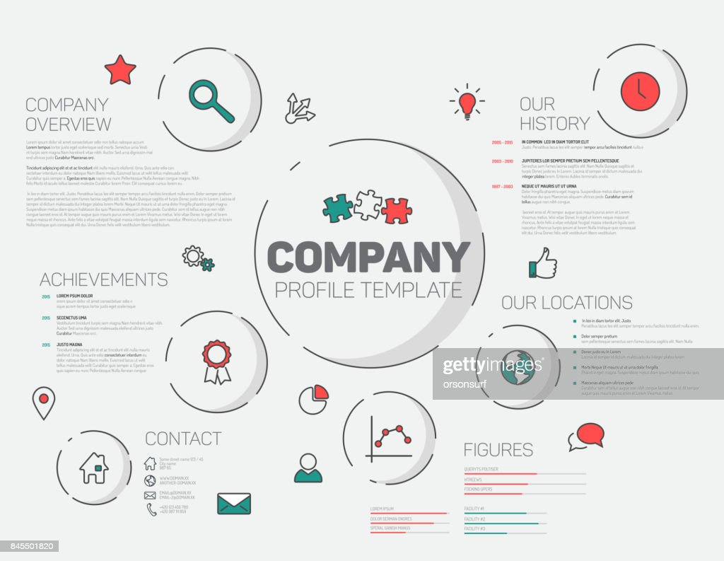 Vector Company infographic profile design template