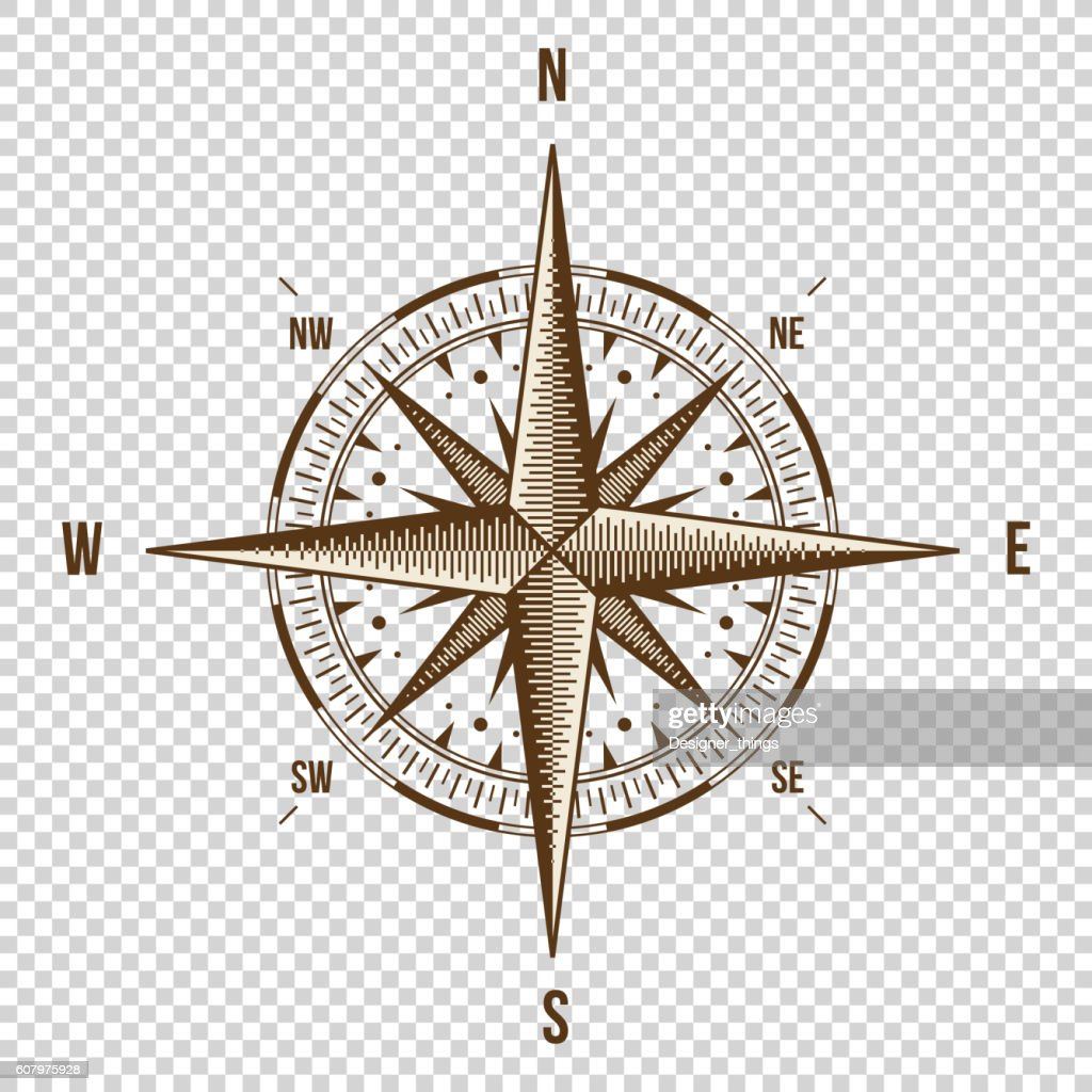 Vector Compass. High Quality Illustration. Old Style. West, East, North