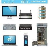 Vector Computer Icons Set 2
