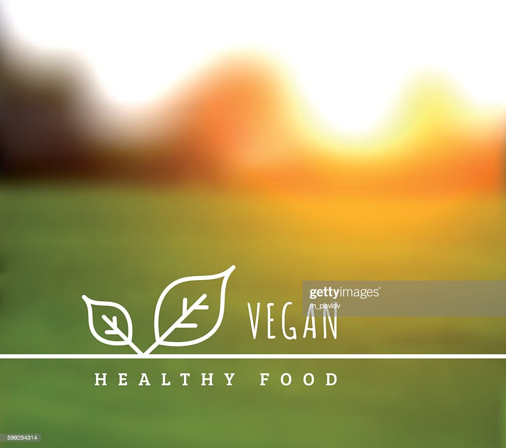 Vector concept of natural vegetarian health food