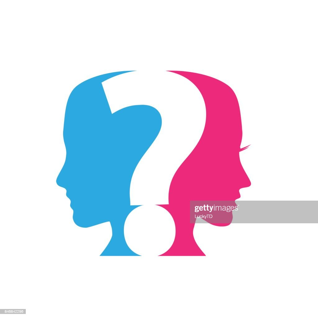Vector concept of Questions Couples, question mark