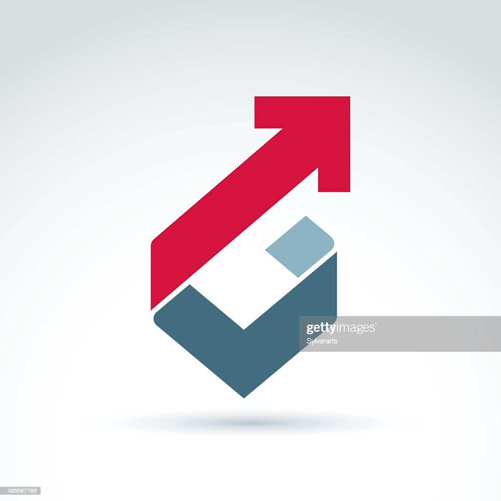Vector conceptual design element. Abstract geometric symbol