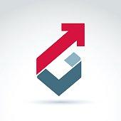 Vector conceptual design element. Abstract geometric symbol