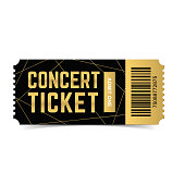 Vector concert ticket.