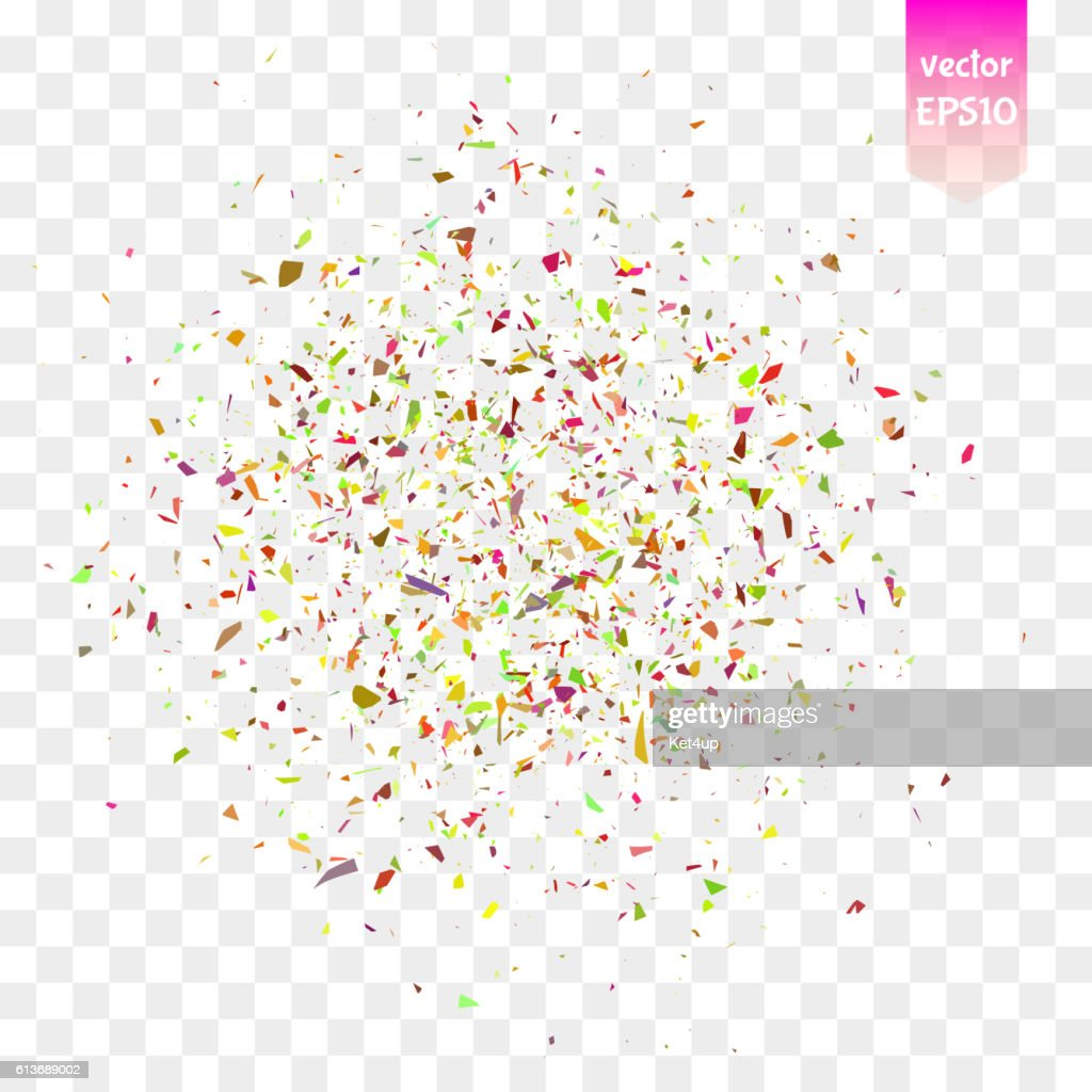 Vector confetti pieces