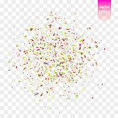 Vector confetti pieces
