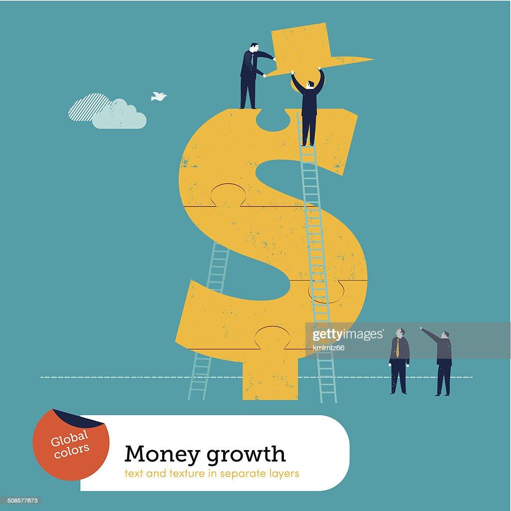 Vektor Hindernisse der dollar-Symbol : Vektorgrafik