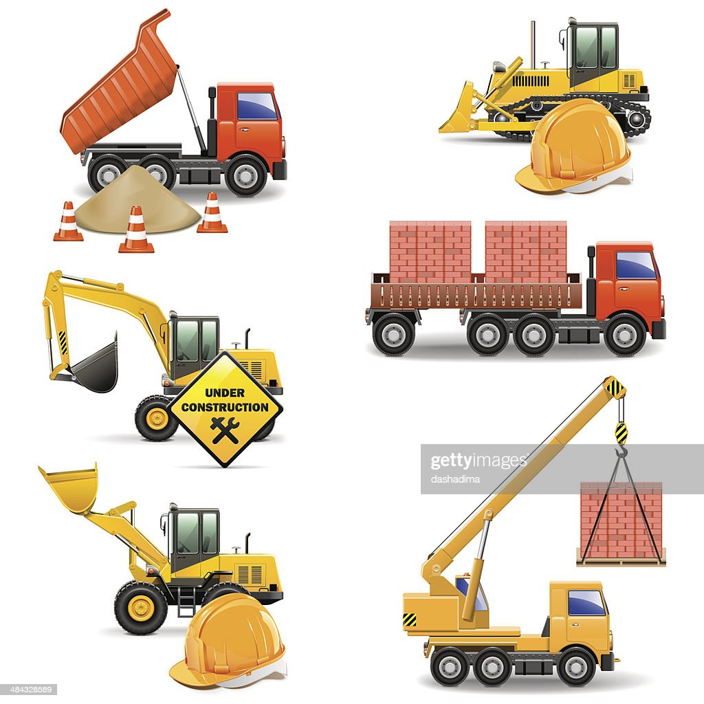 Vector Construction Machines Set 4