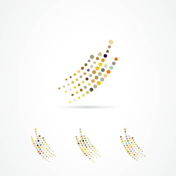 vector continuous dots pattern icon collection - swirl stock illustrations