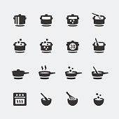 Vector cooking mini icons set