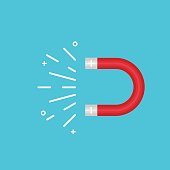 vector cool flat design element object of energy magnet