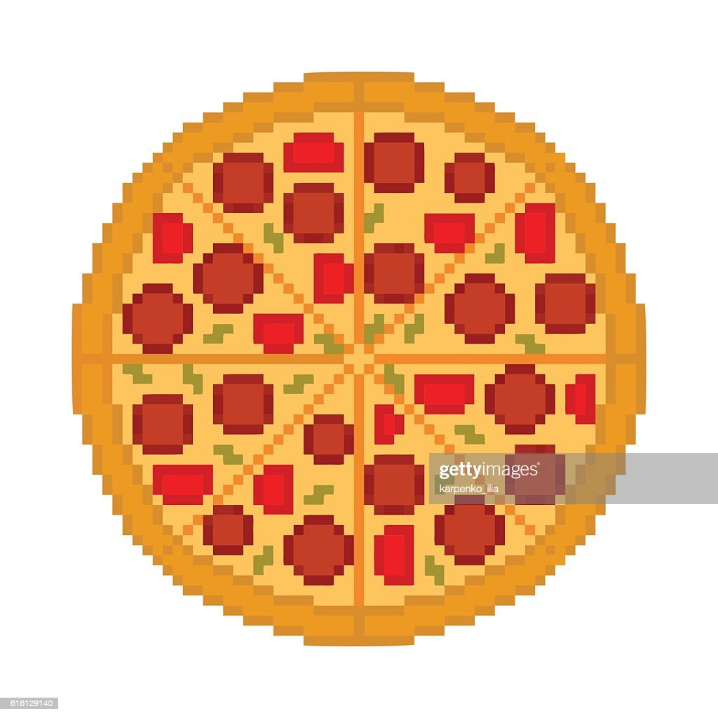 Vector cool tasty pizza