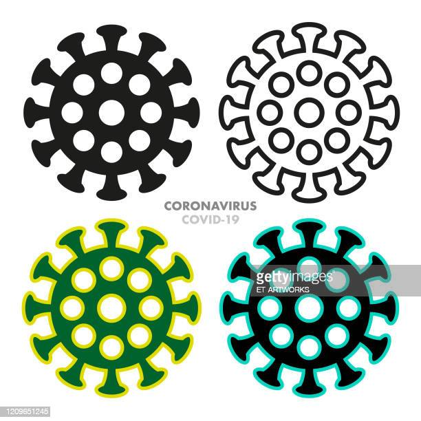 ilustraciones, imágenes clip art, dibujos animados e iconos de stock de conjunto de iconos de coronovirus vectorial - cuarentena