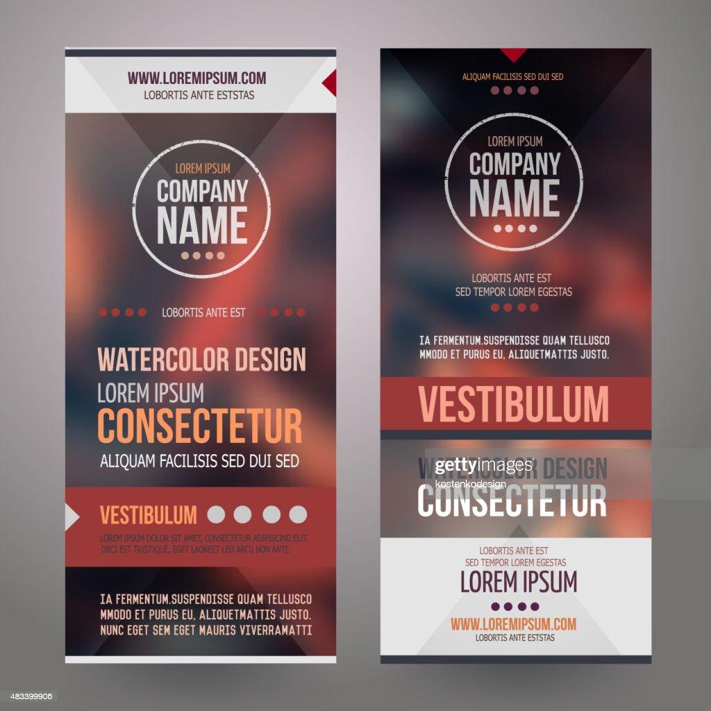 Vector Corporate identity templates design