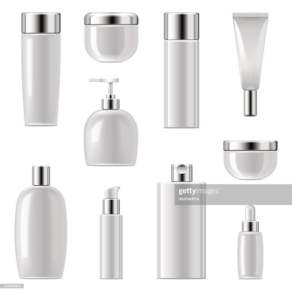 Vector Cosmetic Packaging Icons Set 2