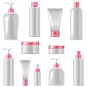 Vector Cosmetic Packaging Icons