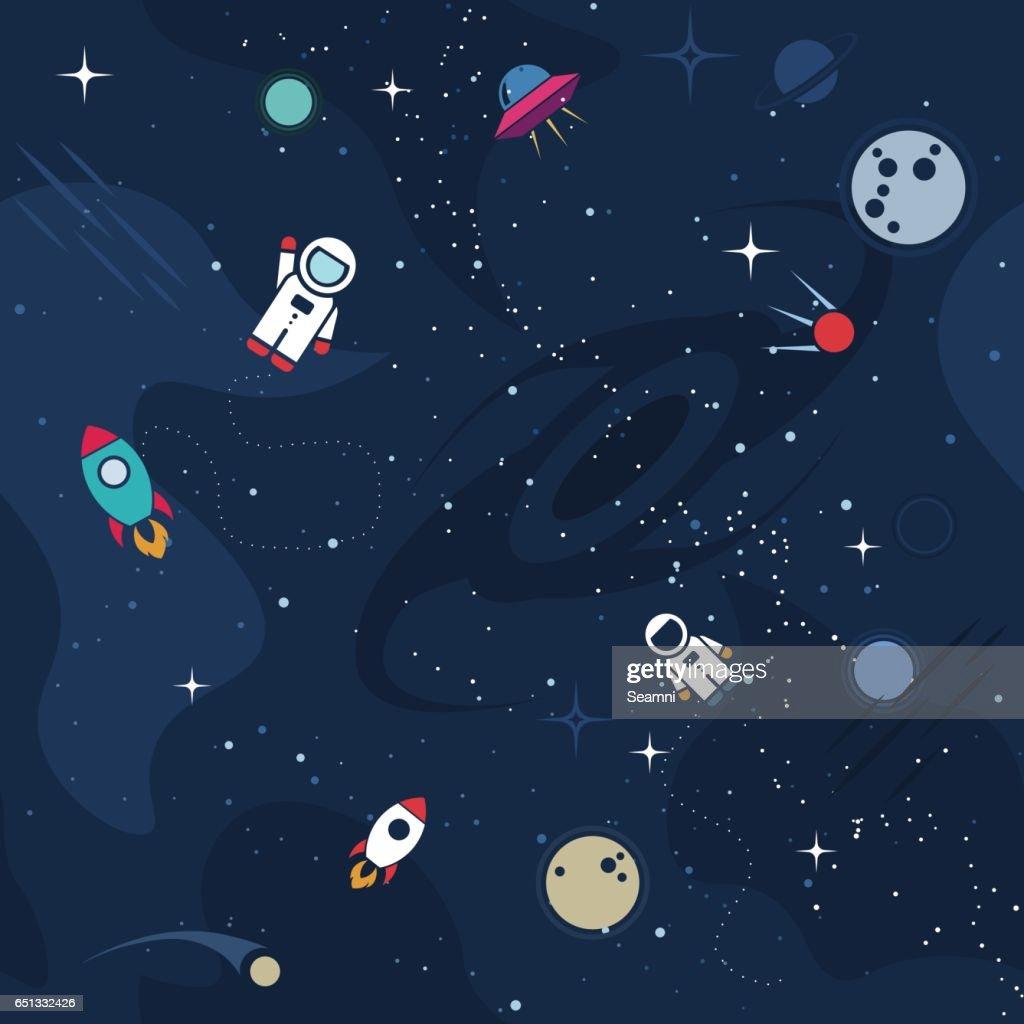 Vector cosmos background design